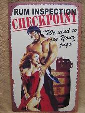 Run Checkpoint Tin Metal Sign Sexy Funny Man Women Bar