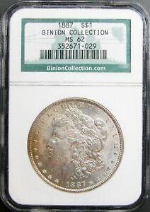 1887 Morgan Dollar NGC MS-62  (Binion Collection)