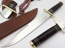 LOUIS SALVATION CUSTOM & HANDMADE STAINLESS STEEL LEATHER HUNTING KNIFE & BOWIE