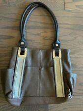 Tignanello Light Brown Leather Handbag Purse Very Nice Durable Stylish