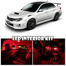 04-11 Subaru Impreza WRX STI Interior Xenon RED LED Bulb Full Package (QTY X7)