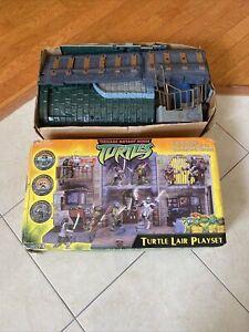 2003 Playmates TMNT Teenage Mutant Ninja Turtle Lair PlaySet