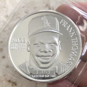Frank Thomas MLB 1 Troy Ounce Silver Coin Chicago White Sox Limited Edition 1993
