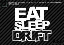 (2x) Eat Sleep Drift Sticker Decal Die Cut #1 jdm drift