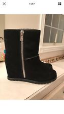 Marc by Marc Jacobs $348 Womens Harper Black Suede Snow Boots Shoes 38
