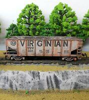HO Scale Custom Painted Weathered Train Virginian Hopper Car