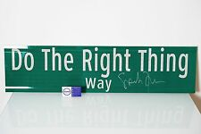"""DO THE RIGHT THING SIGN SPIKE LEE AUTOGRAPHED 36"""" x 9"""" - Jordan 1 Mars Blackmon"""