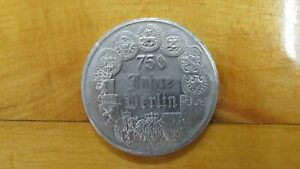1987 Germany 750 Jahre Berlin Brandenburger Tor Medal Coin