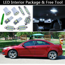 5PCS Bulbs White LED Interior Car Lights Package kit Fit 2005-2010 Pontiac G6 J1