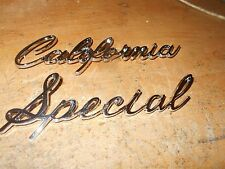 1968 FORD MUSTANG SHELBY GT/CS CALIFORNIA SPECIAL QUARTER PANEL EMBLEM SET C8ZX