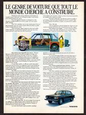 1972 VOLVO 144 Vintage Original Print AD - Black car photo French Canada Sedan