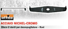 LAMA DISCO PROFESSIONALE DECESPUGLIATORE UNIVERSALE 2 DENTI ACCIAIO NICHEL CROMO