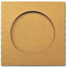 10 x  CD/ DVD Cardboard Wallet with Window 100% Recycled Brown Blank NEW
