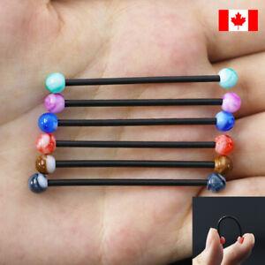 Trending Pair acrylic  industrial Barbell Body piercing Bioflex punk piercing