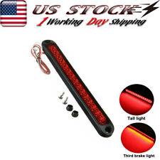 "Red 10"" 15 LED Stop Turn Tail 3rd Brake Lights Truck Trailer Marker Sealed Bar"