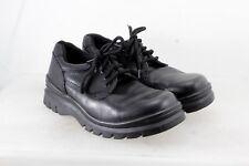 GBX Garcia Black Leather Pebble Grain Open Vamp Oxford Shoes Men's Sz 8.5 D