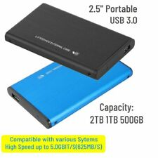 "2.5"" USB 3.0 500GB 1/2TB External Hard Drive Disk HDD Box For PC Laptop Portable"