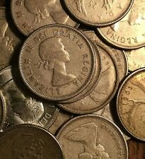 1953 TO 1966 CANADA SILVER 25 CENTS - 1 coin - Random year