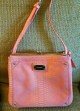 Nine West Jaya Crossbody Handbag Purse Coral Snake Pattern Embossed
