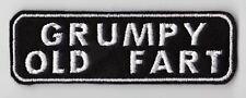 GRUMPY OLD FART PATCH BIKER TRIKER SCOOTER SEW ON BUY 5 PAY FOR 4!!