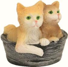 Crèches Figurines animaux famille de chats chats dans le panier hauteur environ 2,9 cm