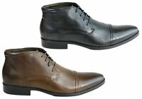 Brand New Democrata Henry Mens Leather Lace Up Dress Boots Made In Brazil