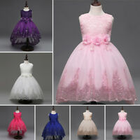 Flower Girl Bow Princess Dress Children Party Wedding Bridesmaid Formal Dresses