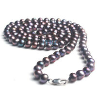 Genuine Real Natural Black Pearl Necklace Opera Long 35 inch