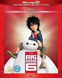 BIG HERO 6 [Blu-ray 3D + 2D] (2014)  Disney UK Exclusive 3D Movie Six Baymax