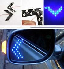 2x Blue 14 SMD LED Arrow Panel Rear View Car Auto Side Mirror Turn Signal Lights
