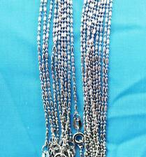 ball Chain Necklace Free shipping Lt6 wholesale lots 10pcs Silver 1.0mm pillars