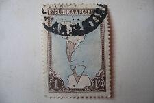 timbre ancien republica argentina 1 peso carte 1951