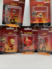 The Incredibles Disney Pixar Complete Set of 5 - Mini Action Figures - Figurines