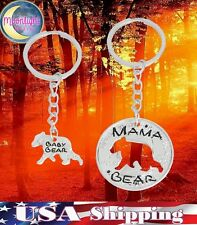 New Mama Bear Baby Bear Mother Child 2 pc Keychain Keyrings Key Chain
