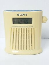 Sony Icf-S79 Shower Mate 4Band Radio Tv Weather Fm/Am Tested Working