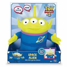 "Disney Pixar Toy Story 4 SPACE ALIEN Talks with Light-Up Antenna 11"" NIB"