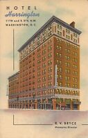 Washington, DC - Harrington Hotel - ADVERTISING - 1951 - LINEN