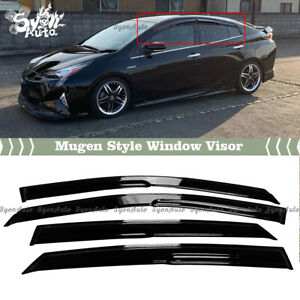 FITS 2016-2021 TOYOTA PRIUS JDM 3D MUGEN STYLE WINDOW VISOR RAIN GUARD DEFLECTOR