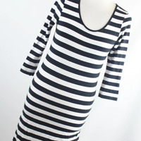 Atmosphere Womens Size 12 Black Striped Cotton Blend Top