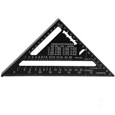 Wood Working Triangle Square Ruler Speed Square Rafter Protractor Miter