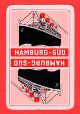 1 Single VINTAGE playing/swap card SHIPS SHIPPING HAMBURG SOUTH AMERICA LINE S55