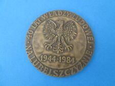 Medal : 40 Lat Wladzy Ludowej Na Lubelszczyznie 1944-1984