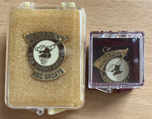 1984 San Diego Padres World Series Balfour Press Pin Pendant and NBC Sports Lot