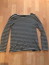 Petite Bateau Stripes Pullover Dark Navy White Striped Sweater XS