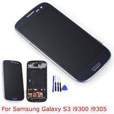 Blau LCD Display Touchscreen Digitizer +Rahmen Für Samsung Galaxy S3 i9300 i9305