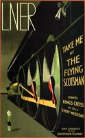 Framed Print - The Flying Scotsman LNER Poster from 1932 (Railway Picture Train)