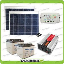 Kit chalet panneau solaire 100W convertisseur 600W DC-AC 24V 220V régulateur EpS
