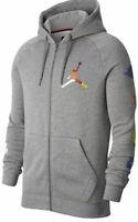 Nike Jordan Jumpman Rivals Men's Fleece Hoodie Grey Logo MEDIUM  - CJ6155 091