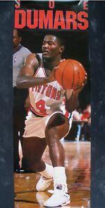 RARE JOE DUMARS PISTONS 1990 VINTAGE ORIGINAL DOOR SIZE NBA COSTACOS POSTER