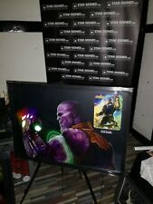 More details for thanos - josh brolin signed avengers picture led lights infinity stones uacc coa